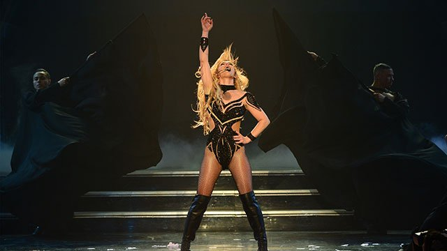 """Britney Spears performs her headlining residency show, """"Britney: Piece of Me"""" at The AXIS at Planet Hollywood Resort & Casino. (Photo: Denise Truscello)"""