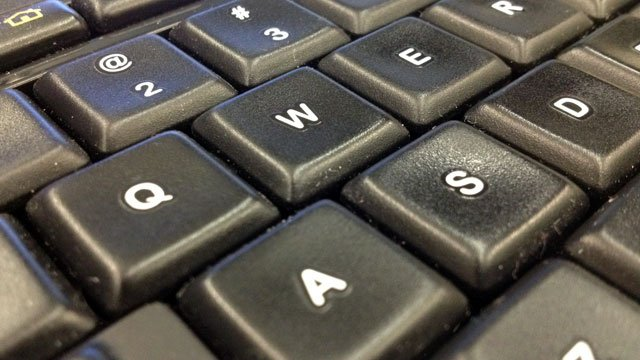 A keyboard is shown in an undated image. (Aaron Barker/FOX5)