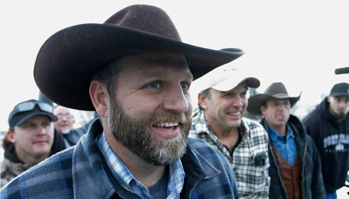 Ammon Bundy, one of the sons of Nevada rancher Cliven Bundy, has been arrested in Oregon. (Source: AP Photo/Rick Bowmer)