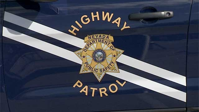 The side of a Nevada Highway Patrol vehicle shown in an undated image. (File)