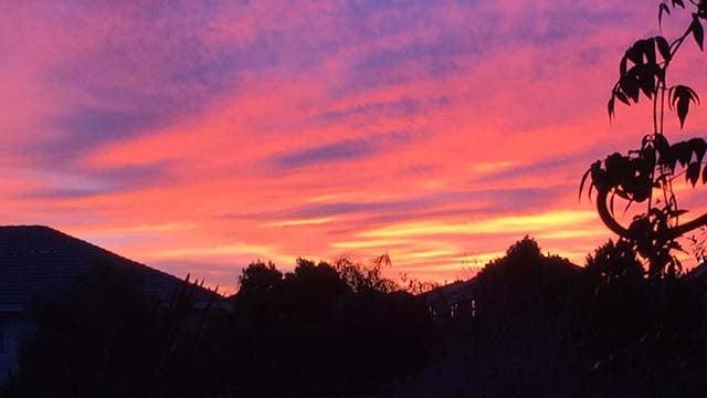 The sun rises over Southern Nevada. (Source: Barb La Fountain)