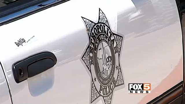 A portion of  a Las Vegas Metro police vehicle is shown in an undated image. (File/FOX5)