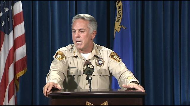 Las Vegas Metro Sheriff Joe Lombardo addresses the media on April 27, 2016. (Source: FOX5)