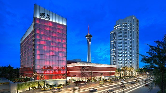 Artist rendering shows the Lucky Dragon hotel-casino.