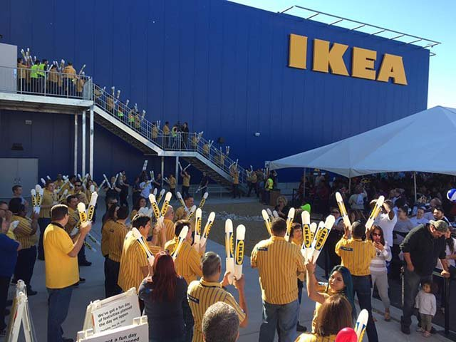 The opening of the Las Vegas IKEA store is celebrated on May 18, 2016. (Source: Charles Strachan)