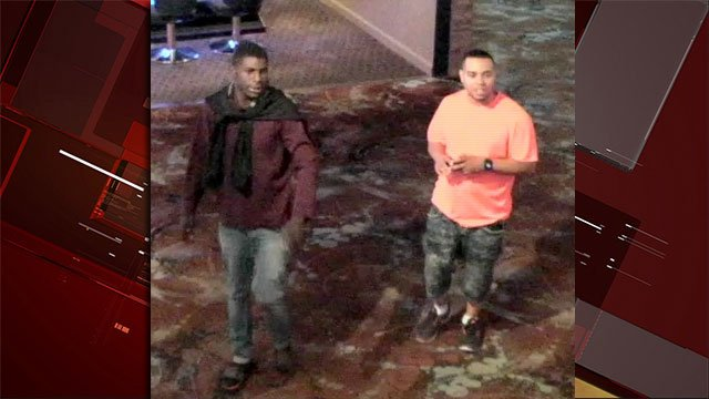 Police are searching for two people in connection to a shooting in downtown Las Vegas on May 29, 2016. (Source: LVMPD)