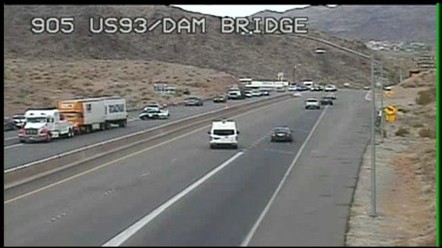 Raw video: Traffic stopped near Hoover Dam