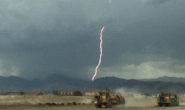 A lightning strike in the Las Vegas Valley on June 30, 2016. (Source: FOX5 Report It)