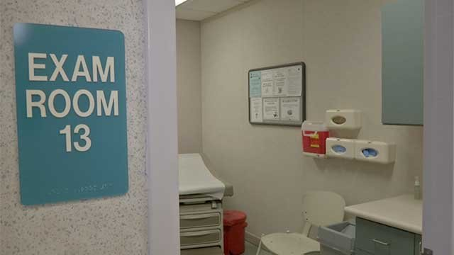 An exam room is shown in an undated image. (File)