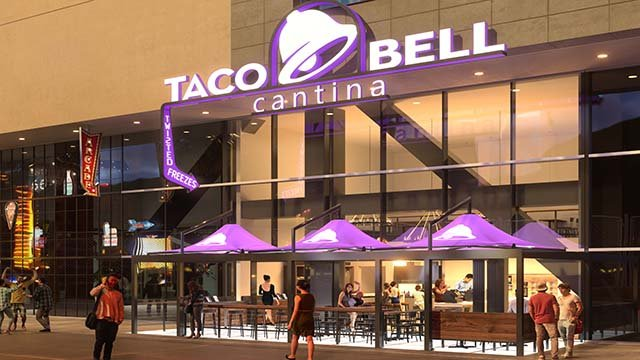 An artist rendering of Taco Bell Cantina, to be located on the Las Vegas Strip in fall 2016. (Source: Taco Bell Corp.)