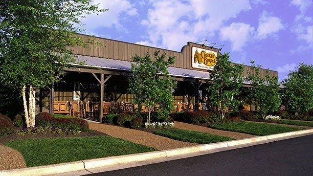 The exterior of a Cracker Barrel restaurant is shown in this undated photo. (Source: Cracker Barrel)