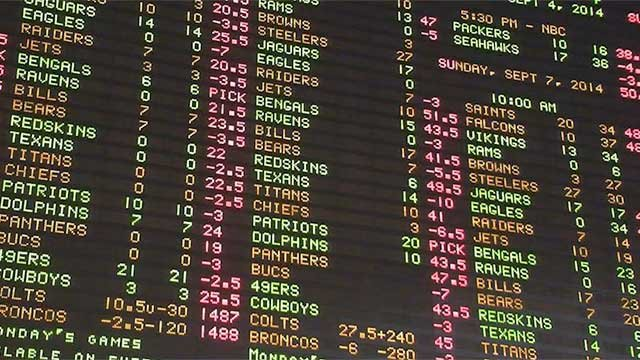 The display at a sports book is shown in an undated image.  (File)