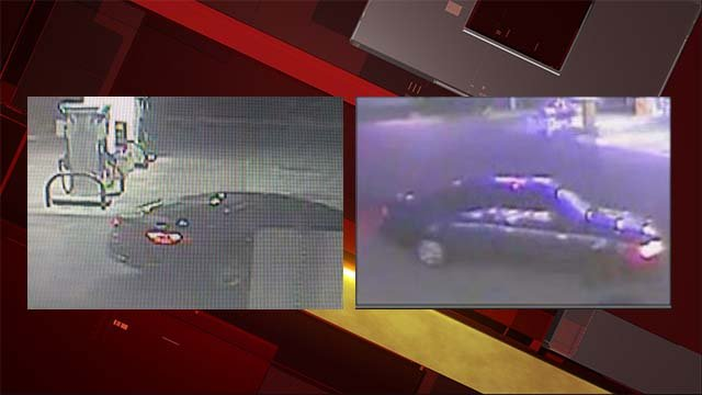 Surveillance photos of vehicles believed to be driven by a slot machine burglar. (Source: LVMPD)
