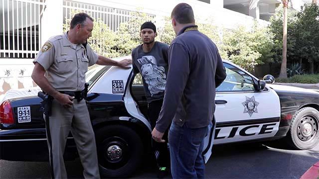 Sexual assault suspect Ivon Major, 22, is taken into custody by Las Vegas Metro police on Aug. 9, 2016. (Source: LVMPD)