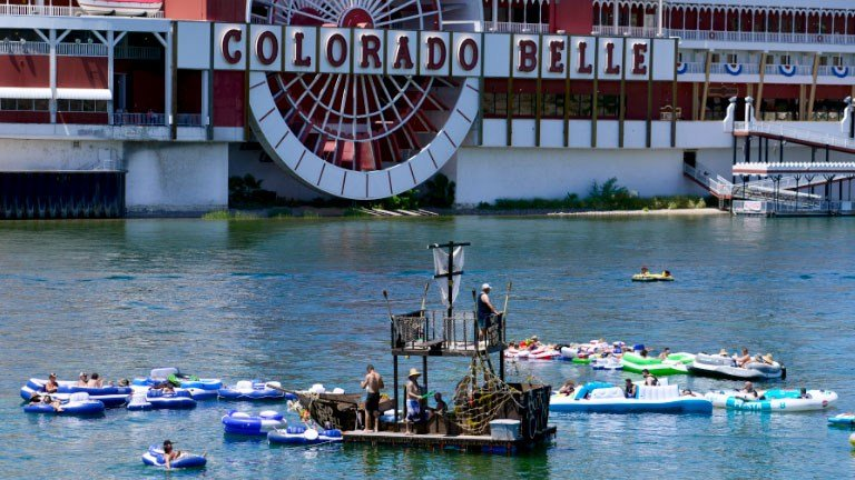 Attendees float on the river for Laughlin's River Regatta on Aug. 13, 2016. (Sam Morris/Las Vegas News Bureau)