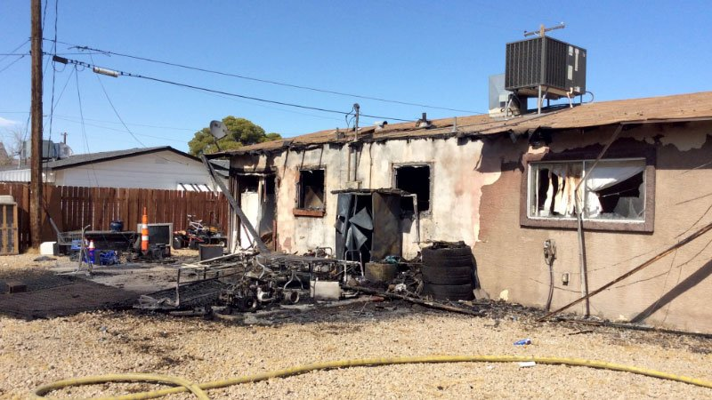 A home damaged in a fire on Aug. 14, 2016. (Source: LVFR)
