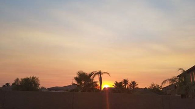 A FOX5 viewer submitted this video of the hazy sunrise over Las Vegas on August 17, 2016. (Source: Linda Lindstrom)