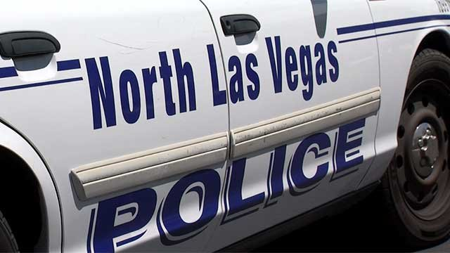 The side of a North Las Vegas police vehicle is shown in an undated image. (File)