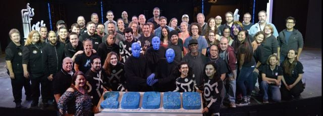 Blue Man Group celebrating 10,000 show. (Courtesy: Jim Oberg/Las Vegas photo & video)