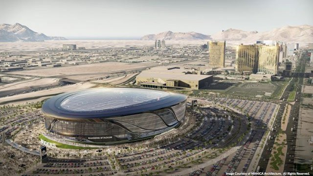 Renderings were presented of a stadium built for the NFL's Raiders on August 25, 2016. (Source: SNTIC.org)