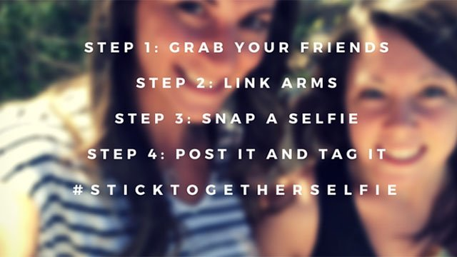 Party Smart Campaign's website includes a #StickTogetherSelfie tip for safe partying on the Las Vegas Strip.  (Source: partysmartinlv.com)