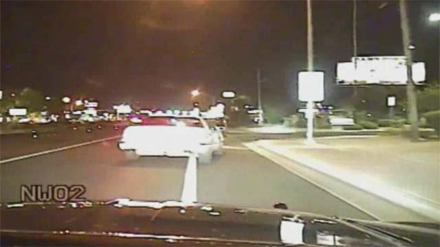 Dash video captured the moments leading to a deadly NHP trooper-involved shooting on Aug. 26, 2016. (Source: NHP)