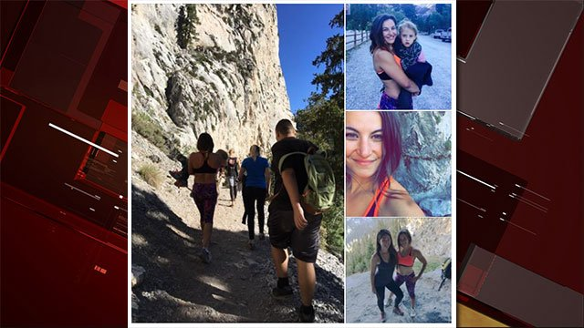 Photos posted to Miesha Tate's official Facebook page shows her coming to the aid of a girl at Mt. Charleston on Sept. 4, 2016. (Source: Facebook/Meisha Tate)
