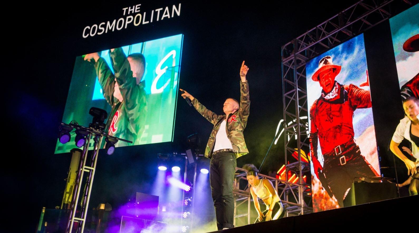 Macklemore & Ryan Lewis perform at The Boulevard Pool at The Cosmopolitan on 09/04/2016.