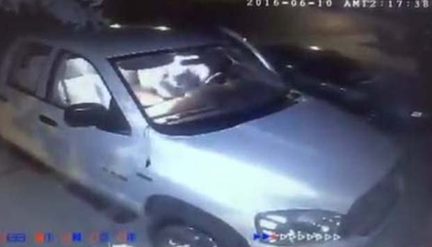 Surveillance still of a recent vehicle break-in in North Las Vegas. (Source: FOX5)