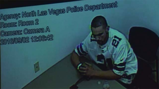 Homicide suspect Alonso Perez escaped from a North Las Vegas Police Department interrogation room on Friday, Sept. 2. (Source: NLVPD)