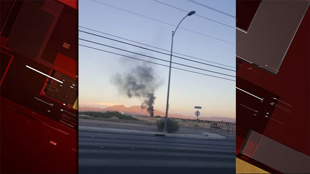 A FOX5 viewer captured a picture of smoke from a fire in North Las Vegas on Sept. 10, 2016. (Van Cravey/FOX5)