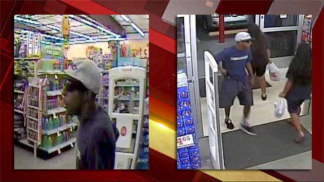 Surveillance images of a man suspected of robbing a business in August. (Source: LVMPD)
