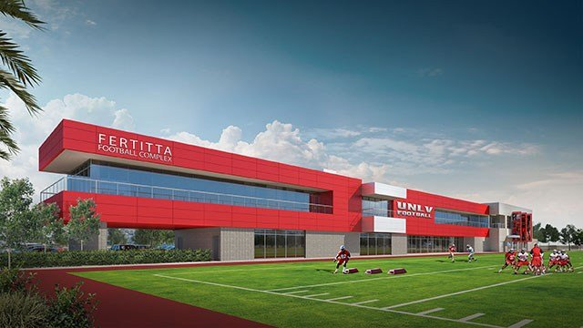 UNLV Athletics announced the construction of the Fertitta Football Complex set to be open in 2017. This is an artist's rendering. (Source: UNLV Athletics)