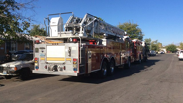 Firefighters responded to a small fire found in a converted studio apartment near Washington and Eastern avenues on Sept. 14, 2016. (Source: Las Vegas Fire and Rescue)