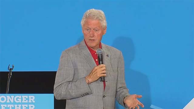 Former President Bill Clinton spoke at the College of Southern Nevada's North Las Vegas campus on Sept. 14, 2016. (Source: FOX5)