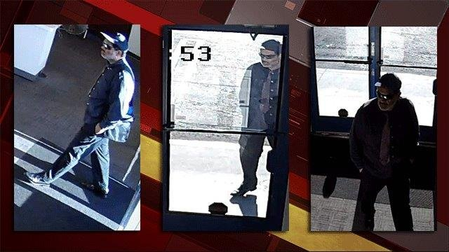 Images from surveillance video of a man suspected of robbing a Las Vegas business. (Source: LVMPD)