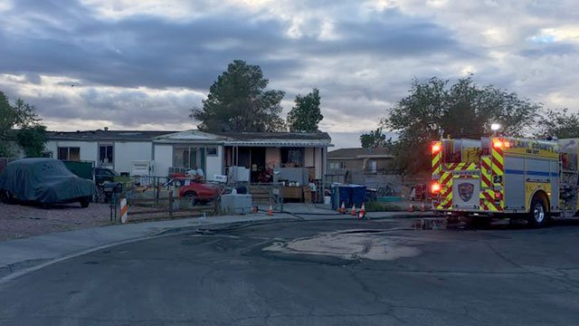 Firefighters responded to a house fire in the area of Pecos and Gowan roads on Sept. 21, 2016. (Mike Doria/FOX5)