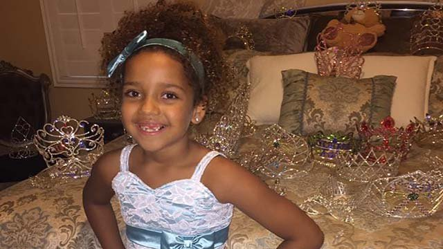 Pageant star Jayliana Glothon will exchange crowns for items of clothing for the homeless on Sunday, Sept. 25. (Source: Family of Jayliana Glothon)