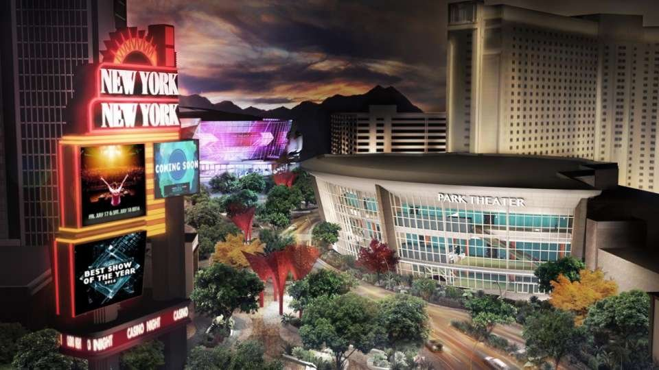 An artist rendering shows the Park Theater at Monte Carlo Las Vegas. (Source: Park Theater website)