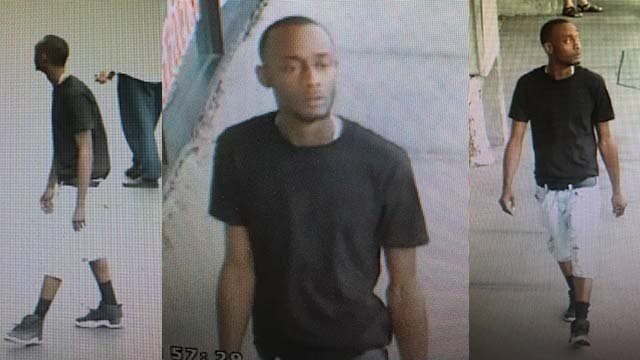 Surveillance stills of a man believed to be responsible for an attempted robbery in northeast Las Vegas on Sept. 27, 2016. (Source: FOX5)
