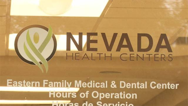 The door to a Nevada Health Centers OB facility is displayed in this image from Sept. 30, 2016. (Source: FOX5)