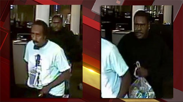 Police released images of men suspected of robbing a Las Vegas business. (Source: LVMPD)