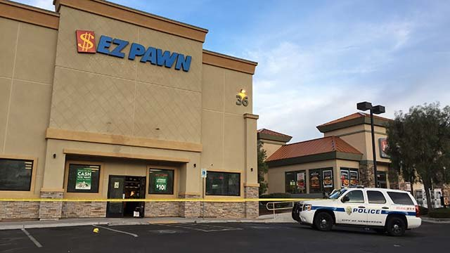 The EZPawn located at 36 W. Horizon Ridge Pkwy. in Henderson was robbed on Oct. 7, 2016. (Source: FOX5)