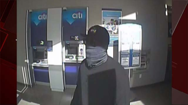 Surveillance photo of suspect involved in bank robbery at Citibank on Oct. 7, 2016. (Henderson Police Department)