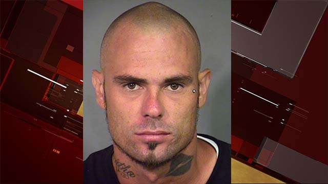 Booking photo of Franklin Sharp. (LVMPD)