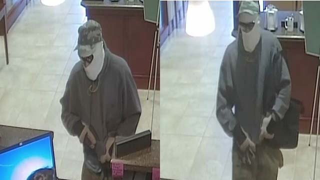 Surveillance stills of the man responsible for robbing a bank on Hualapai Way in Las Vegas on Oct. 11, 2016. (Source: LVMPD)