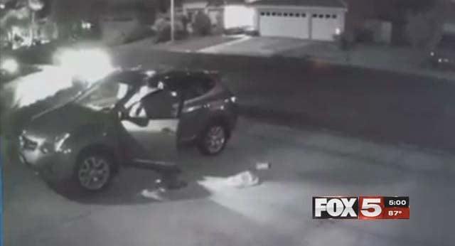 Surveillance video captured a carjacking in Henderson on Oct. 11, 2016. (Source: FOX5)