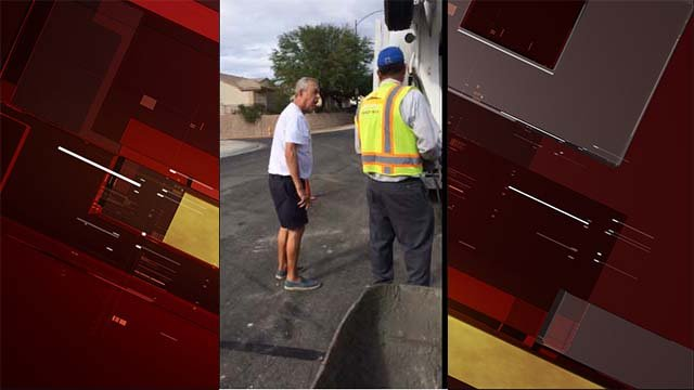 A racially charged confrontation between a Henderson man and a construction crew was caught on cellphone video. (Source: Jorge Tally/Facebook)