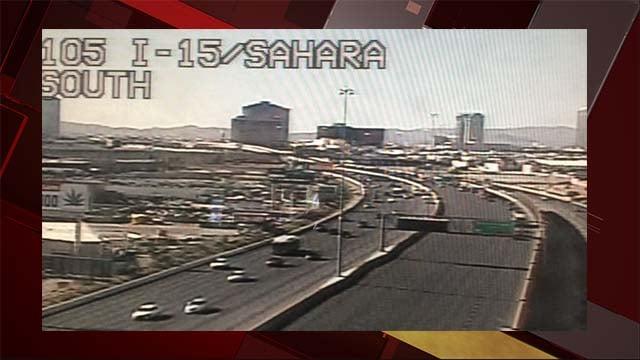 I-15 SB traffic closed Saturday morning due to police activity. (LVACS)