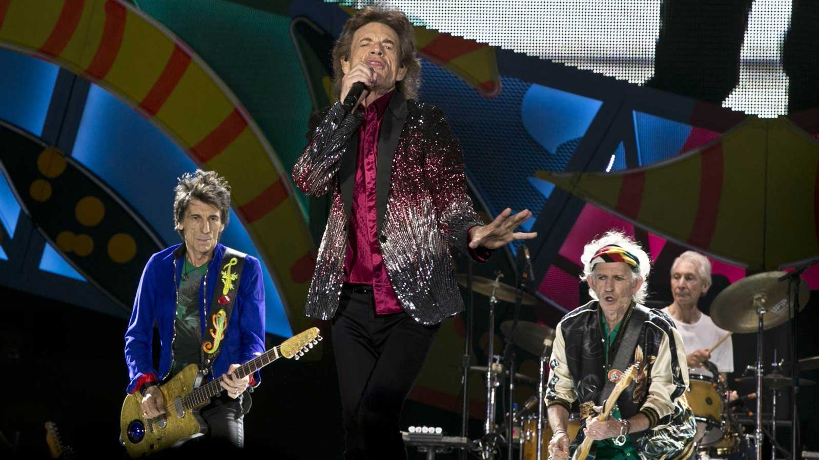 The Rolling Stone perform in Havana, Cuba. (Source: Associated Press)